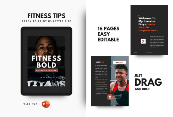 Print on Demand: Body Building Fitness Template PowerPoint Graphic Print Templates By rivatxfz