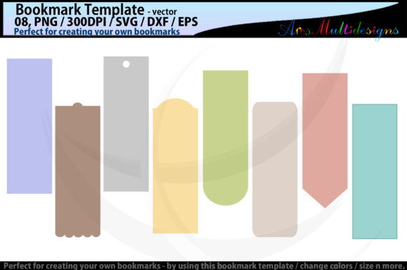 Download Free Bookmark Template Graphic By Arcs Multidesigns Creative Fabrica for Cricut Explore, Silhouette and other cutting machines.