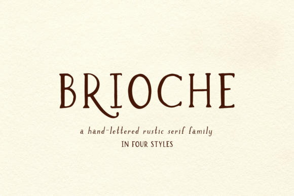 Print on Demand: Brioche Serif Font By BeckMcCormick