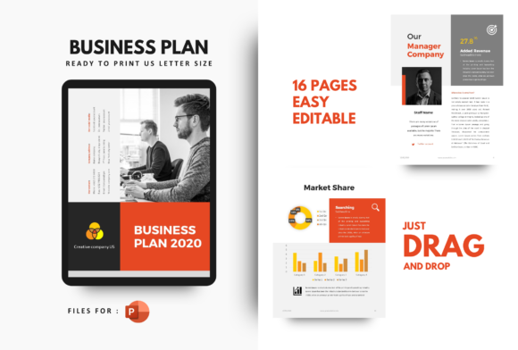Print on Demand: Business Plan 2020 Template PowerPoint Graphic Print Templates By rivatxfz