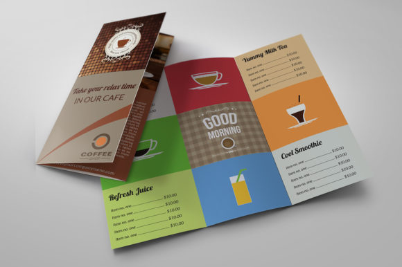 Print on Demand: Cafe and Coffee Shop Menu Tri-Fold Graphic Print Templates By OWPictures