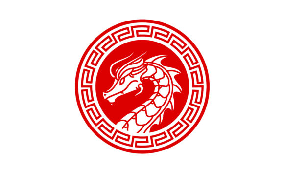 Download Free Chinese Dragon Badge Coin Medallion Logo Graphic By Enola99d for Cricut Explore, Silhouette and other cutting machines.