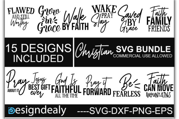 Download Free Christian Bundle Graphic By Designdealy Com Creative Fabrica for Cricut Explore, Silhouette and other cutting machines.