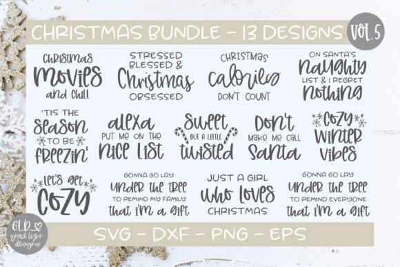 Christmas Bundle Vol. 5 Graphic Crafts By GraceLynnDesigns