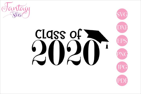 Print on Demand: Class of 2020 Graduation Graphic Crafts By Fantasy SVG - Image 1