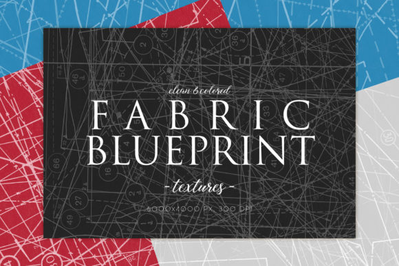 Print on Demand: Clean Fabric Blueprint Textures 1 Graphic Textures By ArtistMef
