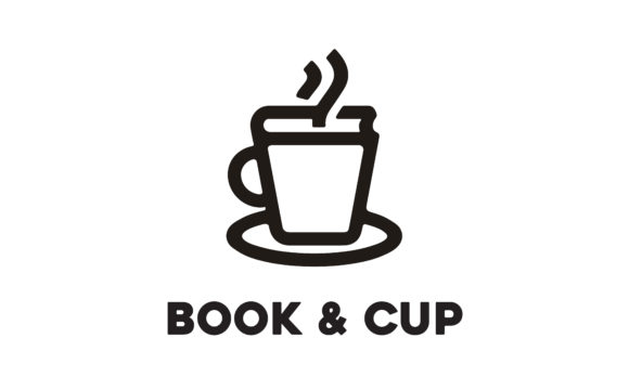 Download Free Coffee Cup And Book Cafe Library Logo Graphic By Enola99d for Cricut Explore, Silhouette and other cutting machines.