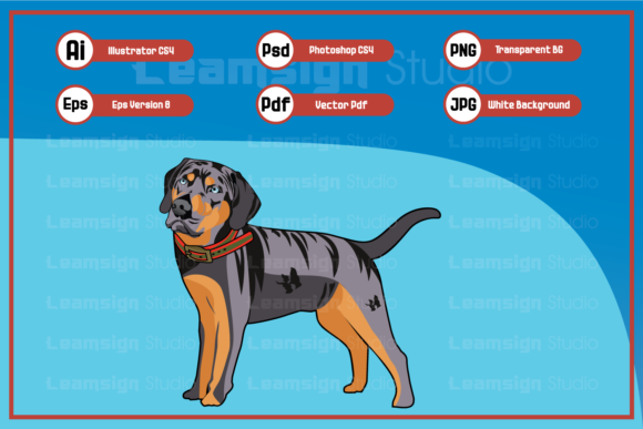 Print on Demand: Cool Dog Character Illustration Graphic Icons By leamsign