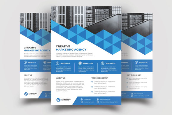Print on Demand: Corporate Flyer Template Graphic Print Templates By graphicidenic