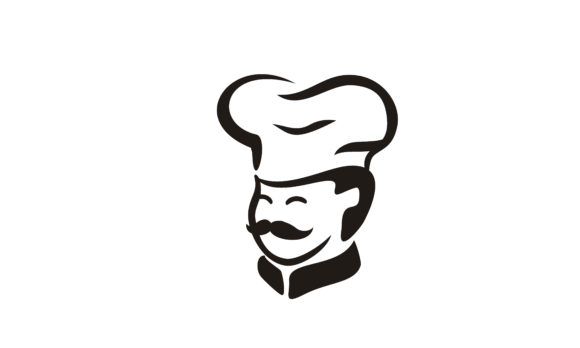 Download Free Cute Mustache Chef Hat Cartoon Logo Grafico Por Enola99d for Cricut Explore, Silhouette and other cutting machines.