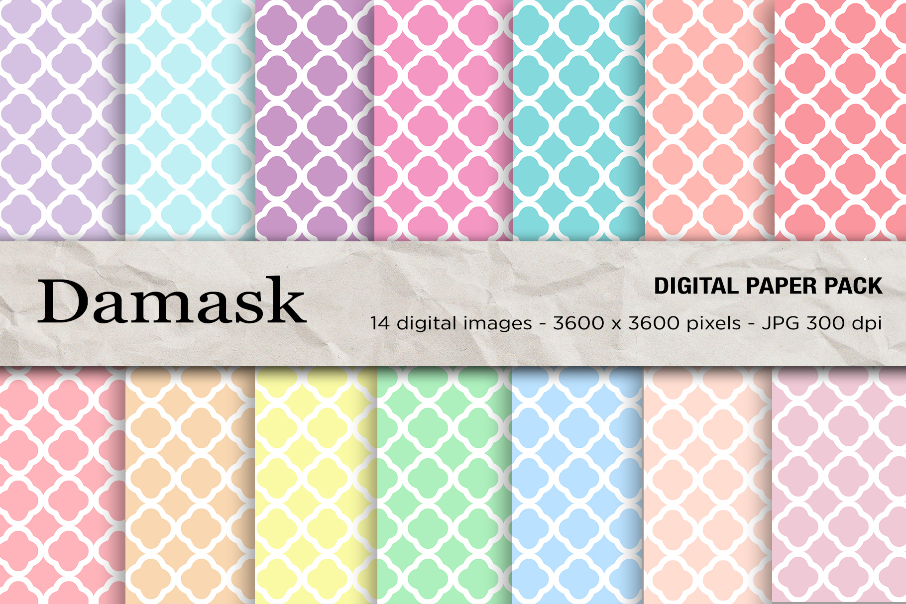 Download Free Damask Digital Papers Graphic By Mertakdere19 Creative Fabrica for Cricut Explore, Silhouette and other cutting machines.