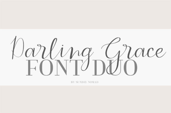 Print on Demand: Darling Grace Duo Serif Font By sunday nomad - Image 1