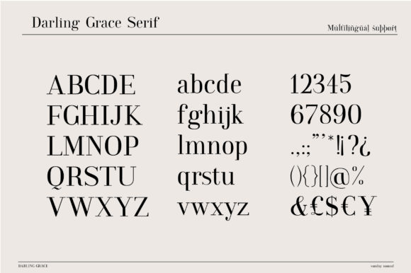 Print on Demand: Darling Grace Duo Serif Font By sunday nomad - Image 3