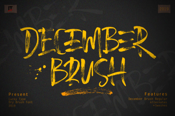 Print on Demand: December Brush Script & Handwritten Font By luckytype.font