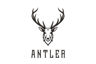 Download Free Deer Stag Buck Reindeer Antler Hunt Logo Grafico Por Enola99d for Cricut Explore, Silhouette and other cutting machines.