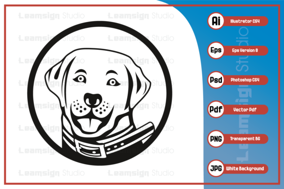 Print on Demand: Dog Head Logo Character Illustration Graphic Icons By leamsign