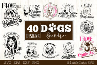 Print on Demand: Dogs Bundle 40 Designs Graphic Crafts By BlackCatsMedia