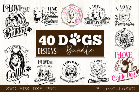 Dogs Bundle 40 Designs Graphic Crafts By BlackCatsMedia