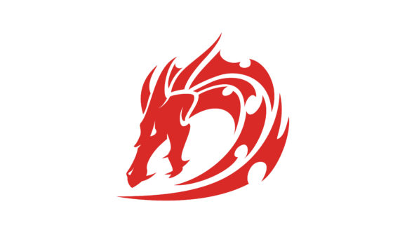 Dragon Tribal With Initial D Logo Design Graphic By Enola99d
