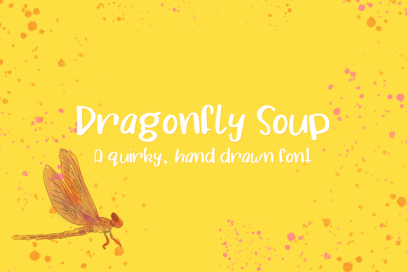 Print on Demand: Dragonfly Soup Script & Handwritten Font By amber_nest