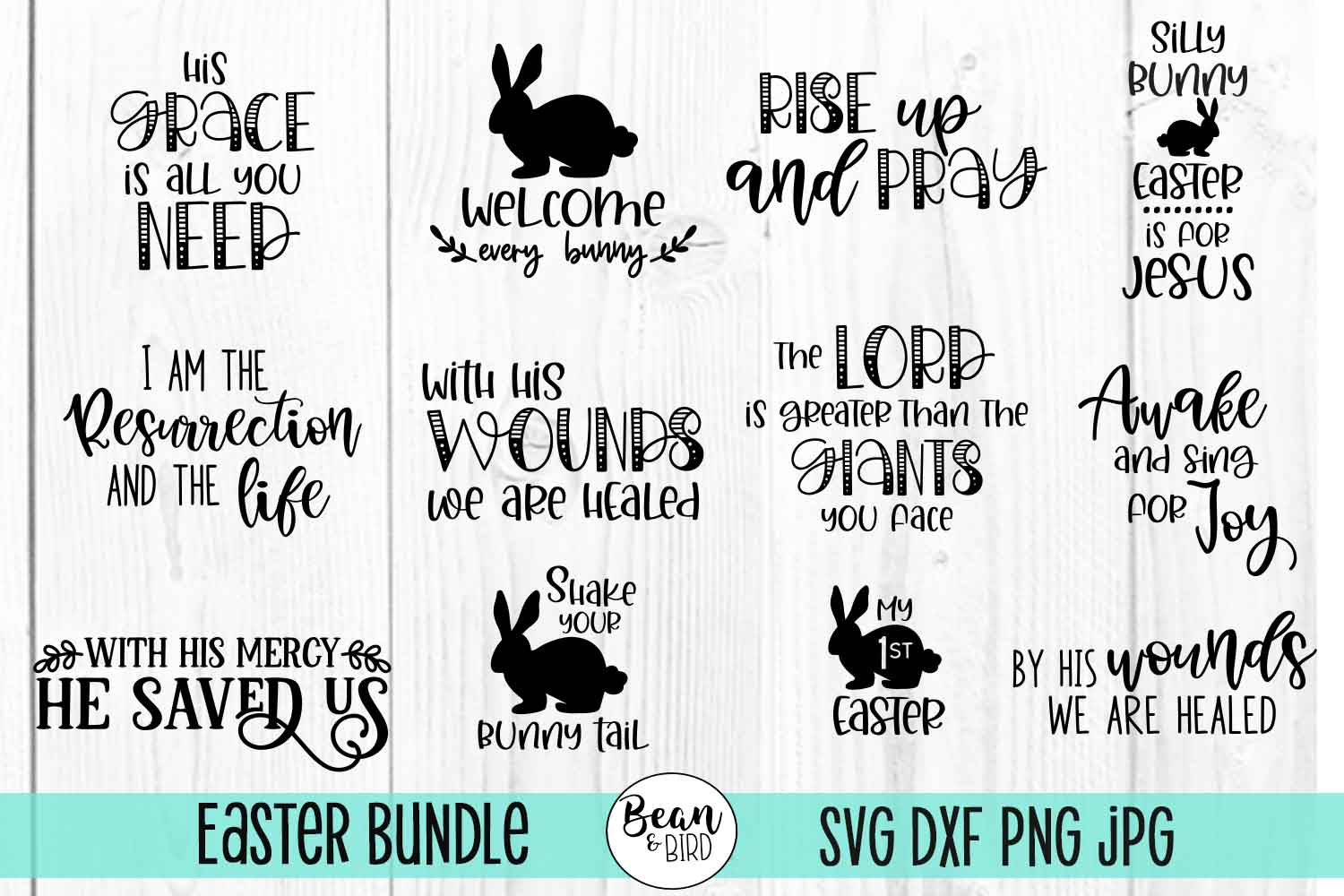 Download Free Easter Bundle Graphic By Jessica Maike Creative Fabrica for Cricut Explore, Silhouette and other cutting machines.