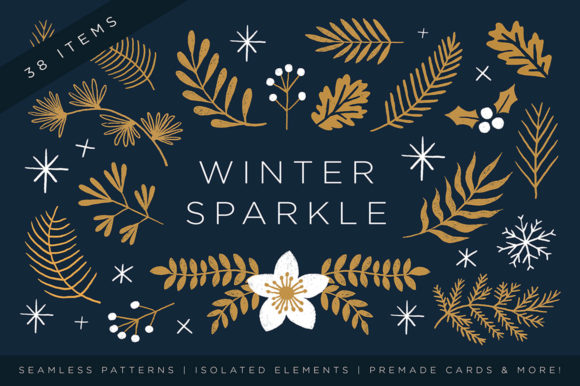 Elegant Christmas Graphic Set Graphic Patterns By roughedgessupply