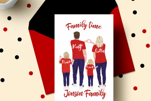 Family Clip Art Parents and Kids Graphic Illustrations By LeCoqDesign - Image 8