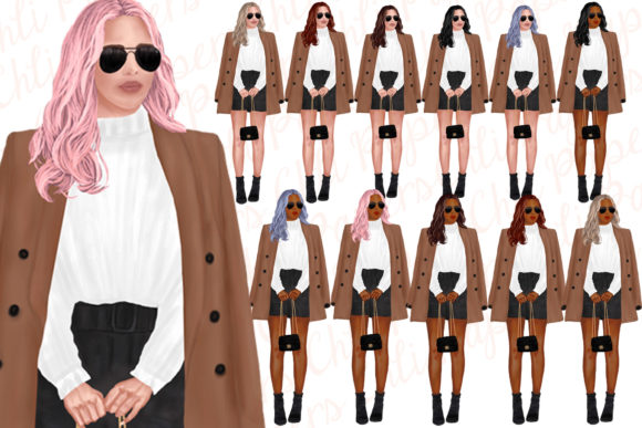 Fashion Girls Clipart,Fab Girls Clipart Graphic Illustrations By ChiliPapers - Image 3