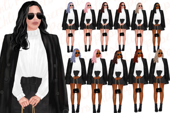 Fashion Girls Clipart,Fab Girls Clipart Graphic Illustrations By ChiliPapers - Image 5