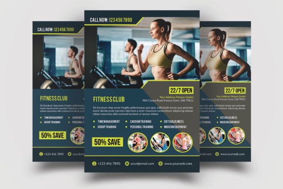 Download Free Fitness Flyer Template Graphic By Graphicidenic Creative Fabrica for Cricut Explore, Silhouette and other cutting machines.