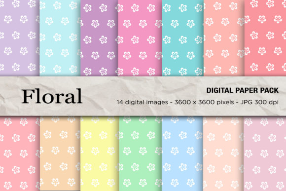 Floral Seamless Patterns Graphic Patterns By mertakdere19