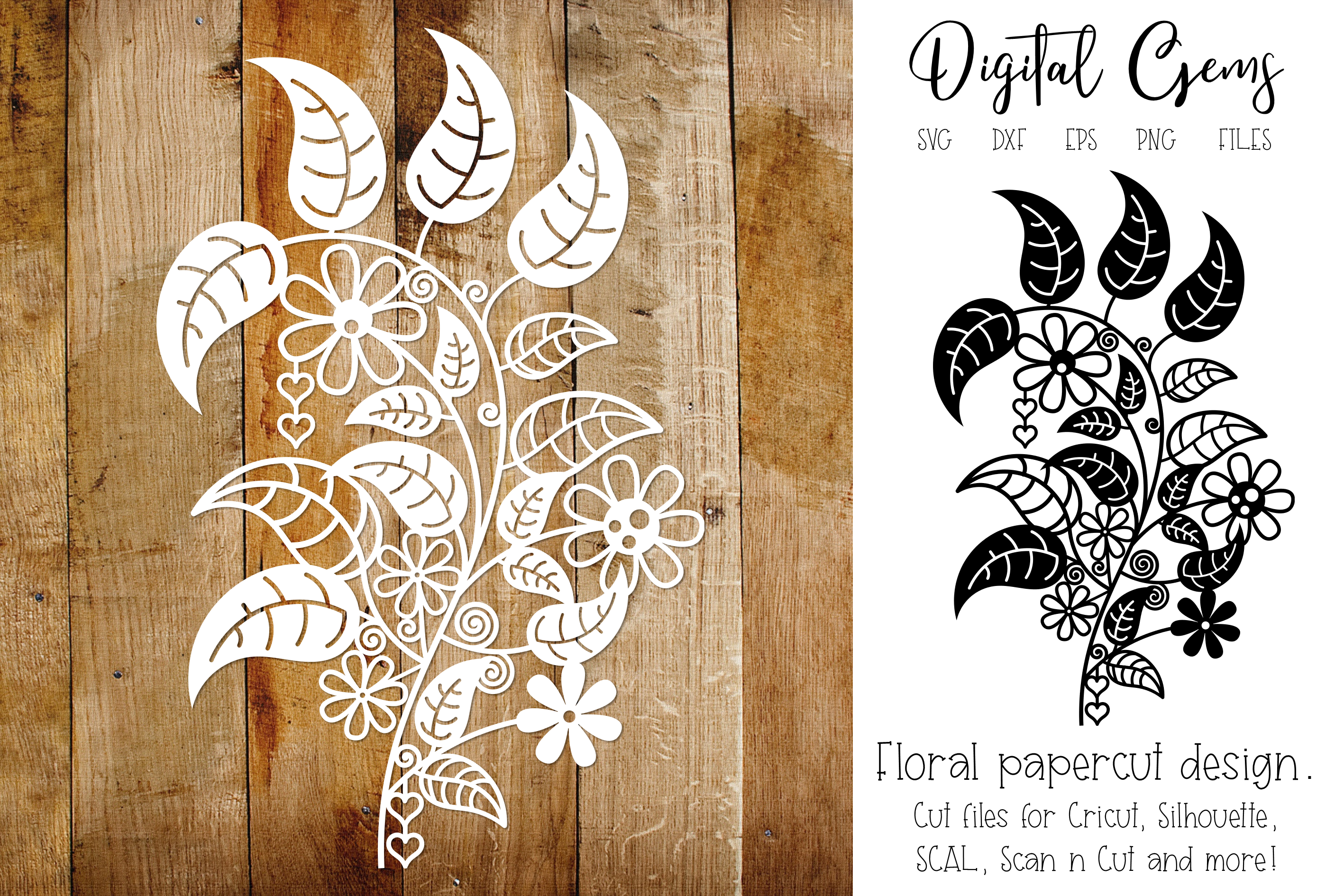 Flower Papercut Design Graphic By Digital Gems Creative Fabrica