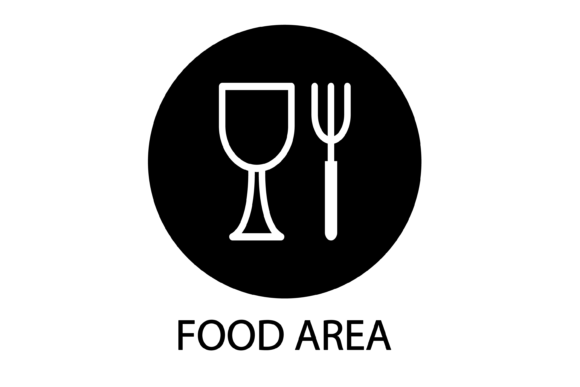 Food Area Sign Graphic Infographics By verry studio