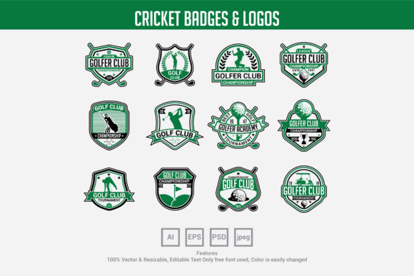 Golf Club Badges & Logos Graphic Logos By octopusgraphic