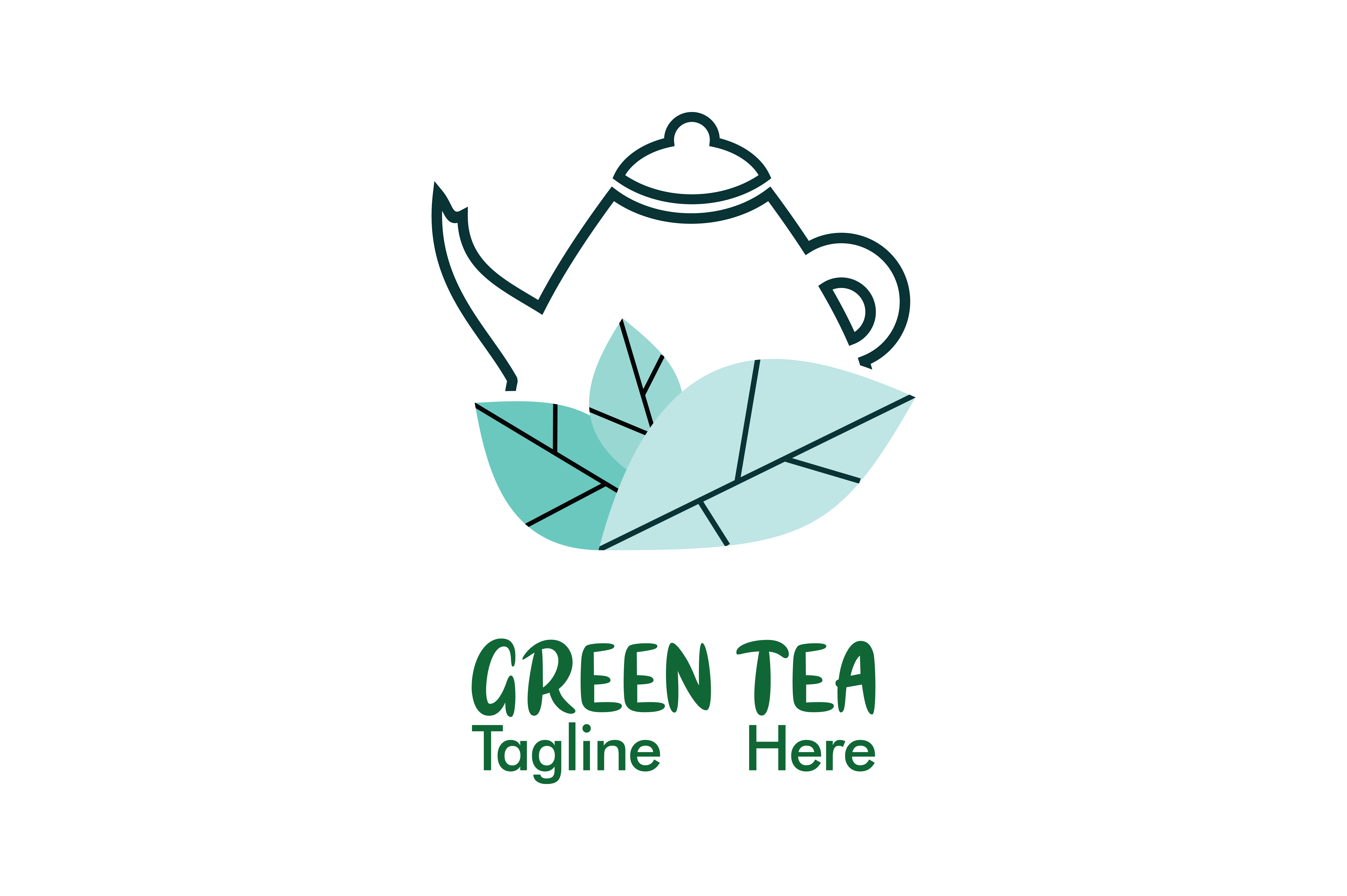 Download Free Green Tea Company Logo Vector Grafico Por Yuhana Purwanti for Cricut Explore, Silhouette and other cutting machines.