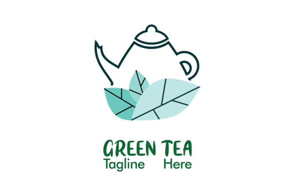 Download Free Green Tea Company Logo Vector Graphic By Yuhana Purwanti for Cricut Explore, Silhouette and other cutting machines.