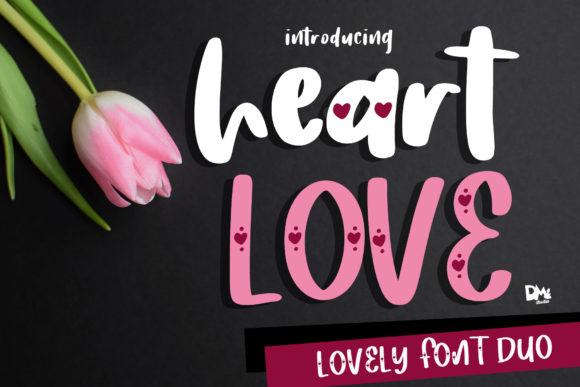 Print on Demand: Heart Love Script & Handwritten Font By dmletter31