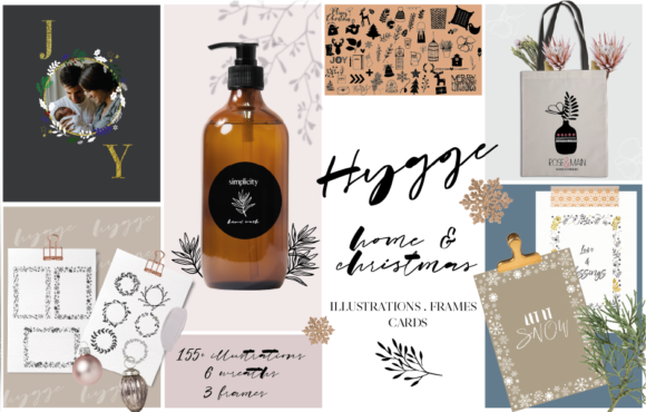 Hygge Home & Christmas Illustrations Graphic Illustrations By OkayAnnie Designs