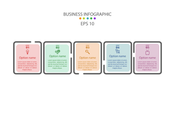 Infographic Template Design with 5 Step Graphic Infographics By verry.etech