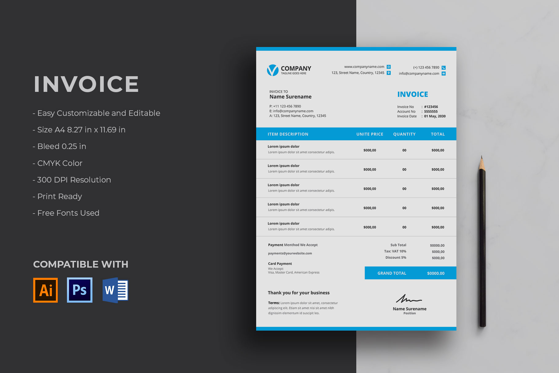 Invoice Graphic By Graphicidenic Creative Fabrica