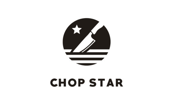 Download Free Kitchen Chop Knife Chef Restaurant Logo Graphic By Enola99d for Cricut Explore, Silhouette and other cutting machines.