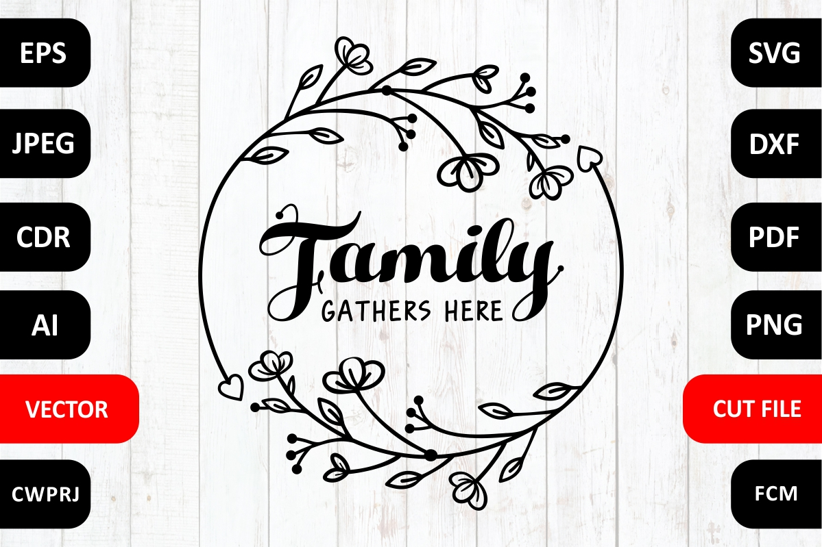 Love Family Quote Cut File Graphic By Millerzoa Creative Fabrica