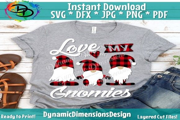 Print on Demand: Love My Gnomies Graphic Crafts By dynamicdimensions - Image 1