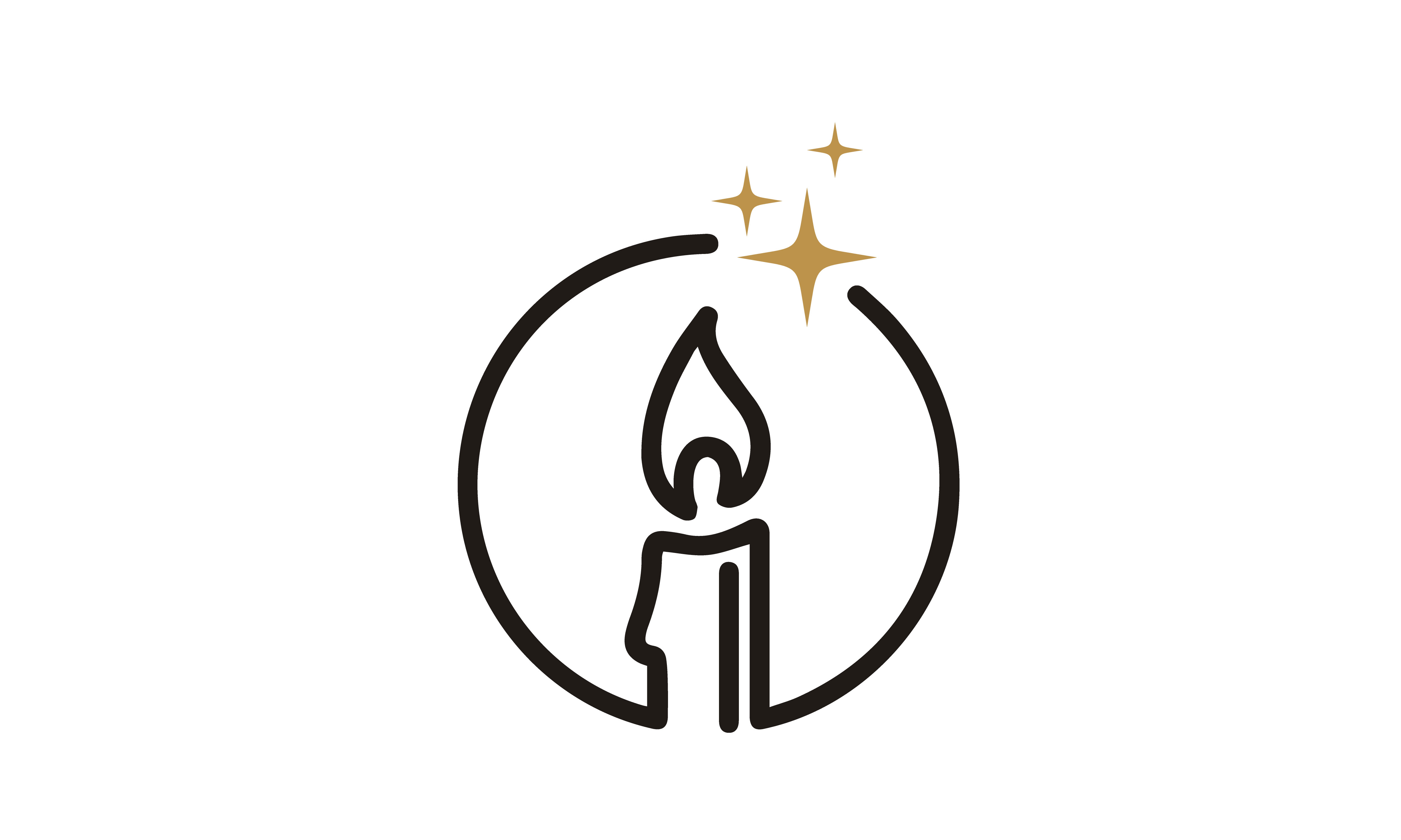 Download Free Luxury Elegant Candle Light Simple Logo Grafico Por Enola99d for Cricut Explore, Silhouette and other cutting machines.