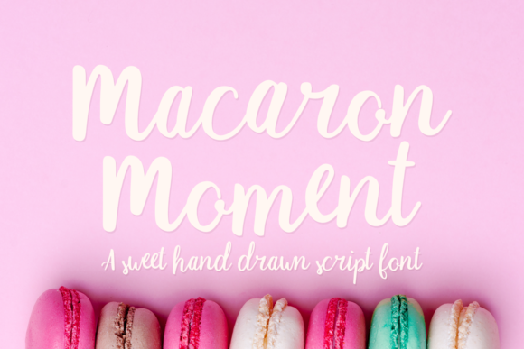 Print on Demand: Macaron Moment Script & Handwritten Font By amber_nest