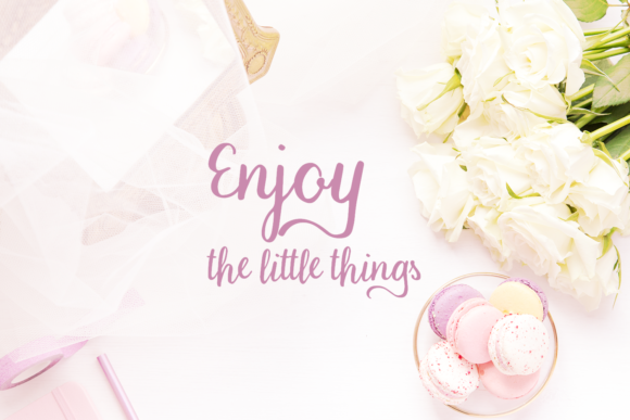 Print on Demand: Macaron Moment Script & Handwritten Font By amber_nest - Image 4