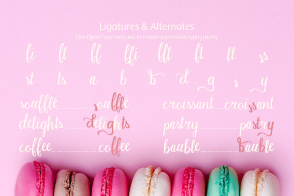 Print on Demand: Macaron Moment Script & Handwritten Font By amber_nest - Image 6