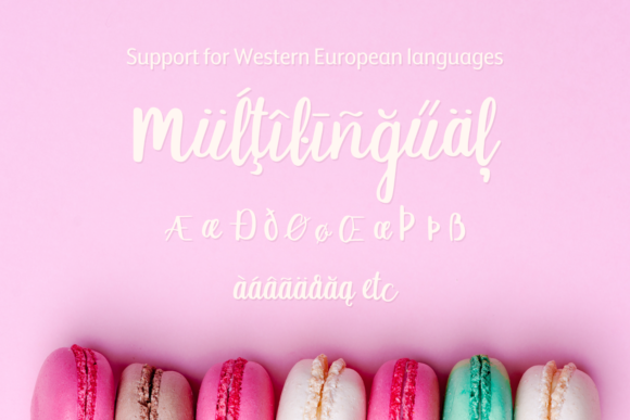 Print on Demand: Macaron Moment Script & Handwritten Font By amber_nest - Image 8