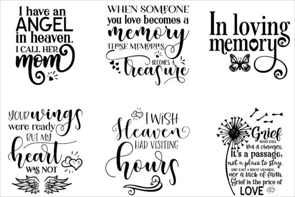 Print on Demand: Memorial Bundle Quotes Graphic Crafts By Fantasy SVG - Image 2