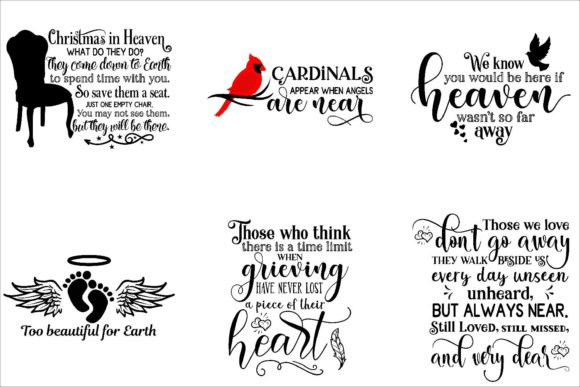 Print on Demand: Memorial Bundle Quotes Graphic Crafts By Fantasy SVG - Image 3